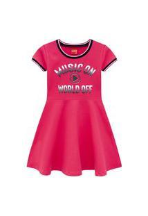Vestido Infantil Menina Kyly Rosa