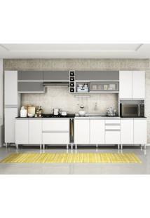 Cozinha Completa Modulada Evidencce Branco Prata 11 Módulos Mobile