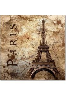 Quadro Impressão Digital Paris Torre Eiffel I Bege 45X45 Uniart