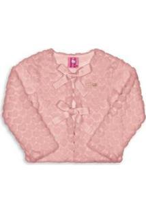 Casaco Bebê Pelo Hello Kitty Feminino - Feminino-Rosa Claro