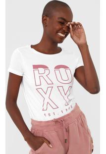 Camiseta Roxy Big Champs Branca - Branco - Feminino - Dafiti