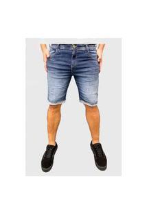 Bermuda Jeans Escuro Moda Way Ii