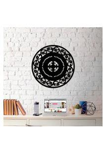 Escultura De Parede Wevans Mandala Abstrat Flower + Espelho Decorativo Único
