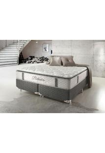 Cama Box Queen Hellen Belvedere Com Mola Ensacada Pillowtop Lateral 74X158X198Cm