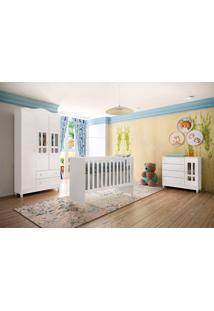 Dormitório Ariel Branco Brilho Carolina Baby