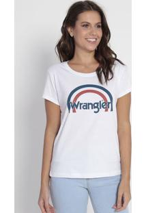 Camiseta Com Inscrição - Branca & Azul Marinhowrangler