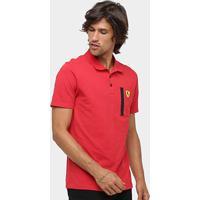 2cd076279 Camisa Polo Puma Scuderia Ferrari Masculina - Masculino-Vermelho