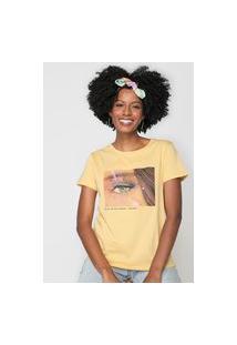 Camiseta Lez A Lez Eye Contact Amarela