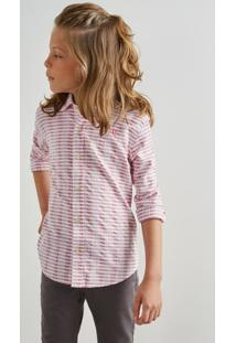 Camisa Mini Pf Textura Horizontal Inv 19 Reserva Mini Bordô