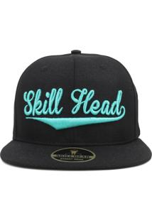 Boné Skill Head Snapback Baseball Preto 1f62a471033