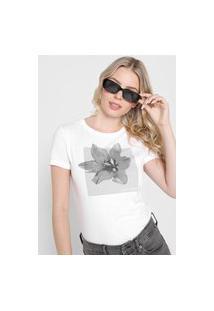 Camiseta Calvin Klein Flor Branca