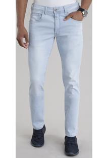 Calça Jeans Slim Azul Claro