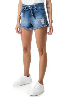 Shorts Azul Comfort Jeans Stretch