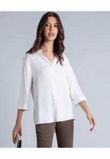 Camisa Manga 3/4 Clássica Branco Off White - Lez A Lez