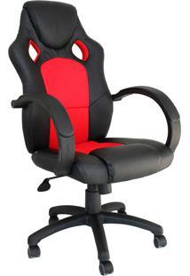 Cadeira Office Gamer Racer -Rivatti - Preto / Vermelho