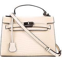 fa4c85500 Bolsa Couro Capodarte Handbag Croco Feminina - Feminino-Bege