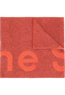 Acne Studios Cachecol Toronty Com Logo - Vermelho