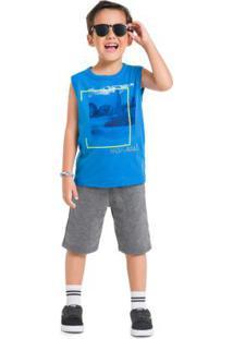 Conjunto Infantil Menino Brandili Azul