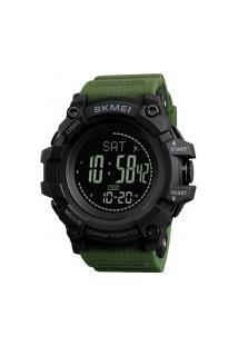 Relógio Skmei Digital -1356- Preto E Verde