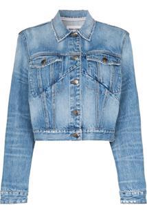 Frame Jaqueta Jeans Cropped - Azul