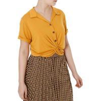94938d93d5 Camisa Manga Curta Feminina Autentique Caramelo