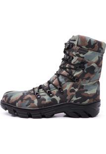 Bota Torani Militar Camuflada Preta