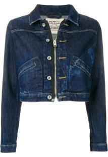 Diesel Jaqueta Jeans Cropped - Azul