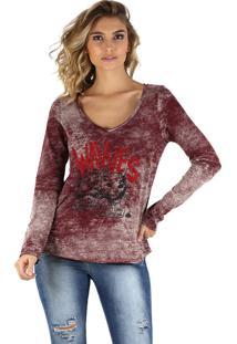 T-Shirt It'S & Co Wavves Bordô