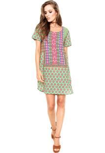Vestido Cantão Silk Outonal Verde