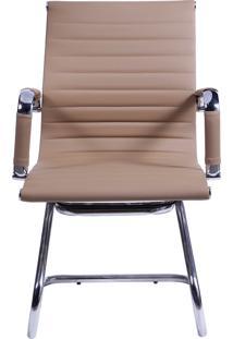 Cadeira De Escritório Esteirinha Fixa - Caramelo