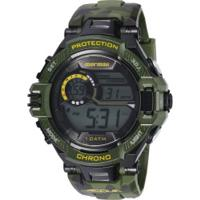 6c371f311888f Centauro. Relógio Digital Mormaii Mo1134 - Masculino - Verde/Preto
