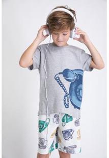 Conjunto De Pijama Infantil Acuo Curto Alô Alô! Masculino - Masculino