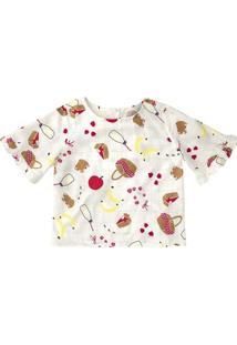 Blusa Infantil Menina Estampada
