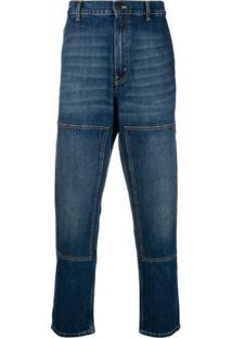 Golden Goose Deluxe Brand 'Komo' high-waisted panel detail jeans - Azul IslKLB