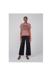 Camiseta Manga Curta Feminina Com Silk Local - Rosa