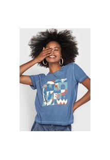 Camiseta Cantão Slim Azulejo Azul-Marinho