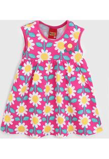 Vestido Kyly Infantil Floral Rosa