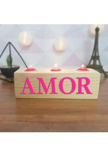 Cubo Decorativo Com Velas E Letras Em Acrílico Amor
