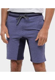 Bermuda Moletom Otn Riscas Masculina - Masculino-Azul Royal