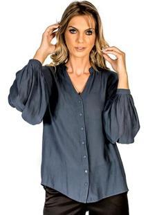 Camisa Detalhes Plissados Lafort