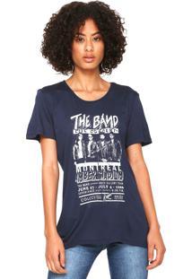 Camiseta Colcci The Band Azul-Marinho