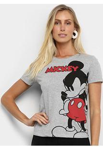 Camiseta Cativa Disney Mickey Feminina - Feminino-Mescla