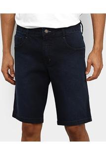 Bermuda Jeans Coca-Cola Masculina - Masculino-Azul Escuro