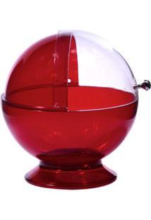 Mini Baleiro Em Acrílico Vermelho 10,5 Cm