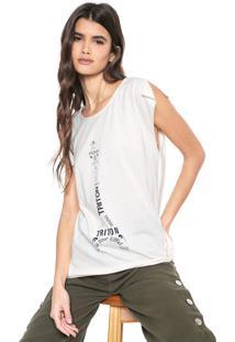 Camiseta Triton Lettering Branca