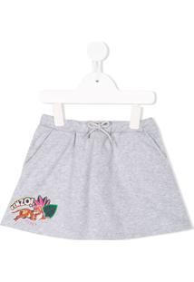 Kenzo Kids Camisa Com Estampa - Cinza