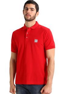 Polo Hugo Boss Masculina Orange Cotton Piqué Vermelha