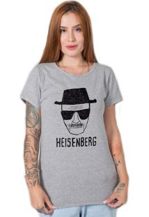 Camiseta Stoned Heisenberg Cinza - Cinza - Feminino - Algodã£O - Dafiti