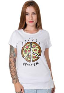 Camiseta Stoned Peace-Za Branca - Branco - Feminino - Algodã£O - Dafiti