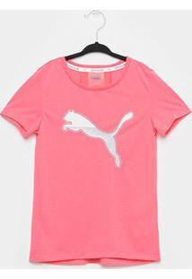 Camiseta Infantil Puma Active Sports Manga Curta Feminina - Feminino